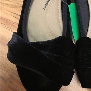 SO Shoes - So Black Velvet Flats Size 6